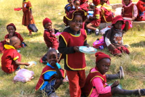 Hwange School feeding by Imvelo Safari Lodges