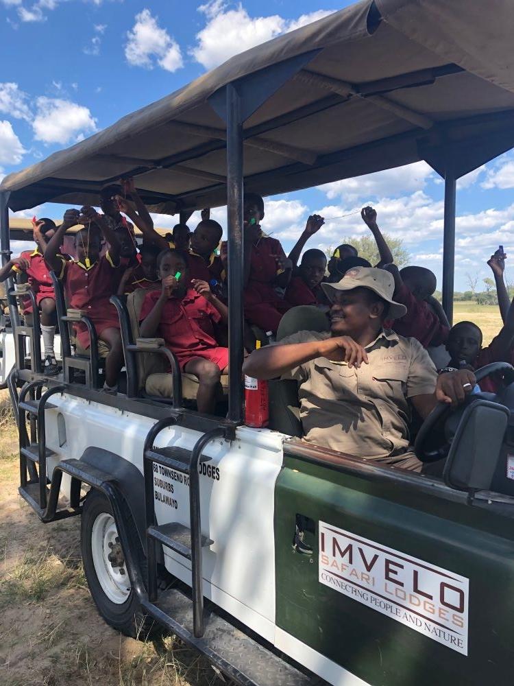 Ngamo school kids on safari